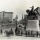 This is an 1870 photograph of Henry Kirke Brown's bronze statue of George Washington on display in its original spot at Union Square.   Photo: Library of Congress Prints and Photographs Division